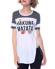 Graphix Gallery - Lion King Hakuna Matata Drapey Tunic Football Tee