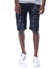 Buyers Picks - Splatter Moto - Style Twill Shorts