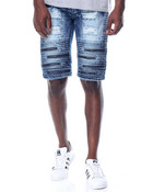Super - Zip Moto - Style Denim Shorts