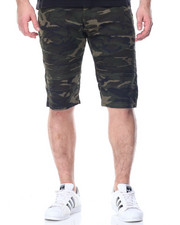 Shorts - Camo Moto Denim Shorts