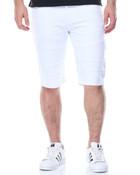 Slit - Pocket Moto Denim Shorts