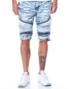 Premuim Wash Zipper Moto Denim Shorts