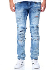 Men - Premium Stretch Multi - Zip Denim Jeans
