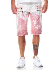 Buyers Picks - Tie - Dye Multi - Zipper Rip - Off Moto Denim Shorts