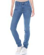 Women - Mid Rise Sandblasted Skinny Jean