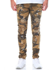 Buyers Picks - Splatter Camo Moto - Style Twill Pants