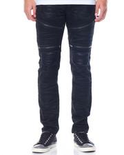 Men - Rip - And - Repair Moto Denim Jeans
