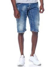 Men - Pieced Stretch Denim Shorts