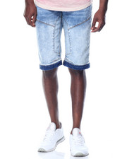 Men - Panelled Stretch Denim Shorts