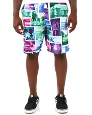 Men - Sunset Surf Coated Micro Swim Trunks