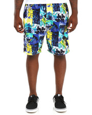 Basic Essentials - Surf Pics Coated Micro Swim Trunks