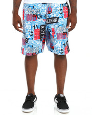 Men - Black Surf Coated Micro Swim Trunks