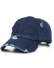 Men - Distressed Vintage Washed Cotton Dad Hat