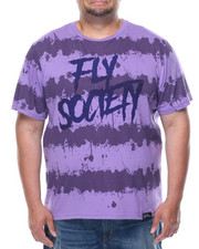 Men - Fly Society Splatter Stripe Short Sleeve Tee (B&T)
