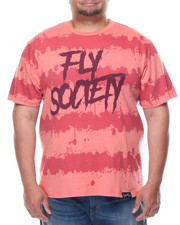 Short-Sleeve - Fly Society Splatter Stripe Short Sleeve Tee (B&T)
