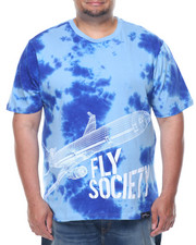 Short-Sleeve - Fly Society Tye Dye Plane Short Sleeve Tee (B&T)