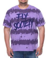 Shirts - Fly Society Splatter Stripe Short Sleeve Tee (B&T)