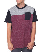 Men - S/S Colorblock Extended Tail Tee
