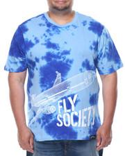 Men - Fly Society Tye Dye Plane Short Sleeve Tee (B&T)