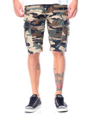 Men - Moto Zip Twill Cargo Pocket Shorts