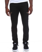 Men - Zip Moto Twill Jeans