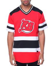 Jerseys - NJ S/S V-Neck Logo Hockey Jersey
