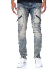 Buyers Picks - Zip Curved - Trim Moto Denim Jeans