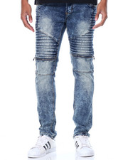 Buyers Picks - Zip Pleat - Trim Moto Denim Jeans