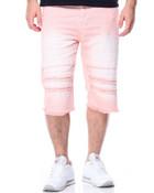 Rip & Repair Color Denim Shorts