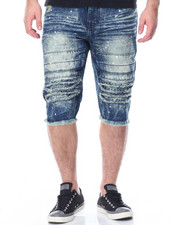 Buyers Picks - Paint Splatter Destructed Denim Shorts