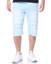 Men - Rip & Repair Color Denim Shorts