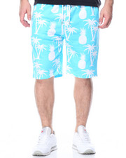 Men - Tropical Print French Terry Shorts