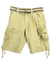 Arcade Styles - Belted Fancy Cargo Pocket Shorts (8-20)