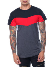 Men - S/S Coloblock Crew Neck Tee