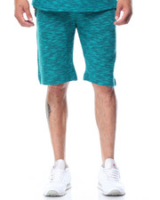 Men - Textured Melange Shorts