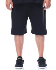 Men - Side Zip Pocketed French Terry Shorts (B&T)