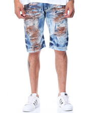 Men - Spray Denim Shorts
