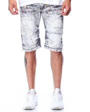 Men - Ripped Painters Denim Short