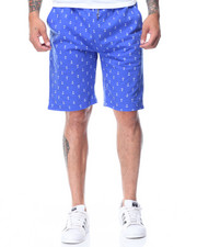 Men - Nautical Print French Terry Shorts