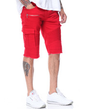 Men - Moto Zip Trim Cargo Pocket Shorts