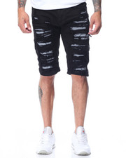 Men - Reflective Trim Ripped Shorts