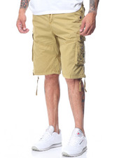 Men - Garment Dyed Fancy Cargo Pocket Shorts