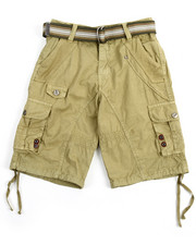 Bottoms - Belted Fancy Cargo Pocket Shorts (8-20)