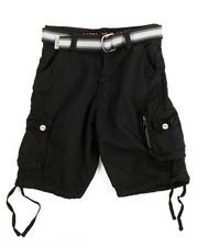 Shorts - Belted Fancy Cargo Pocket Shorts (8-20)