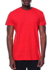 Shirts - S/S Preforated Holes Crew Neck Tee