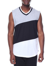 Shirts - Sleeveless Color Block Tee