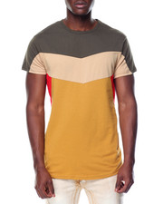 Shirts - S/S Coloblock Crew Neck Tee