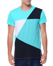 Shirts - S/S Colorblock Crew Neck Tee