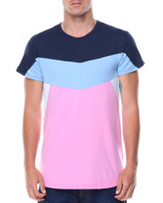 T-Shirts - S/S Coloblock Crew Neck Tee