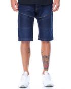 Color Denim Moto Shorts